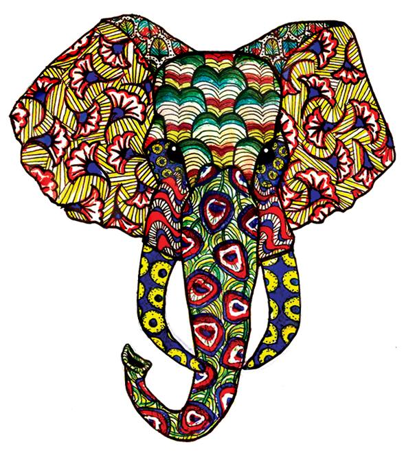 Vlisco olifant - Cape Town - Stijlmeisje