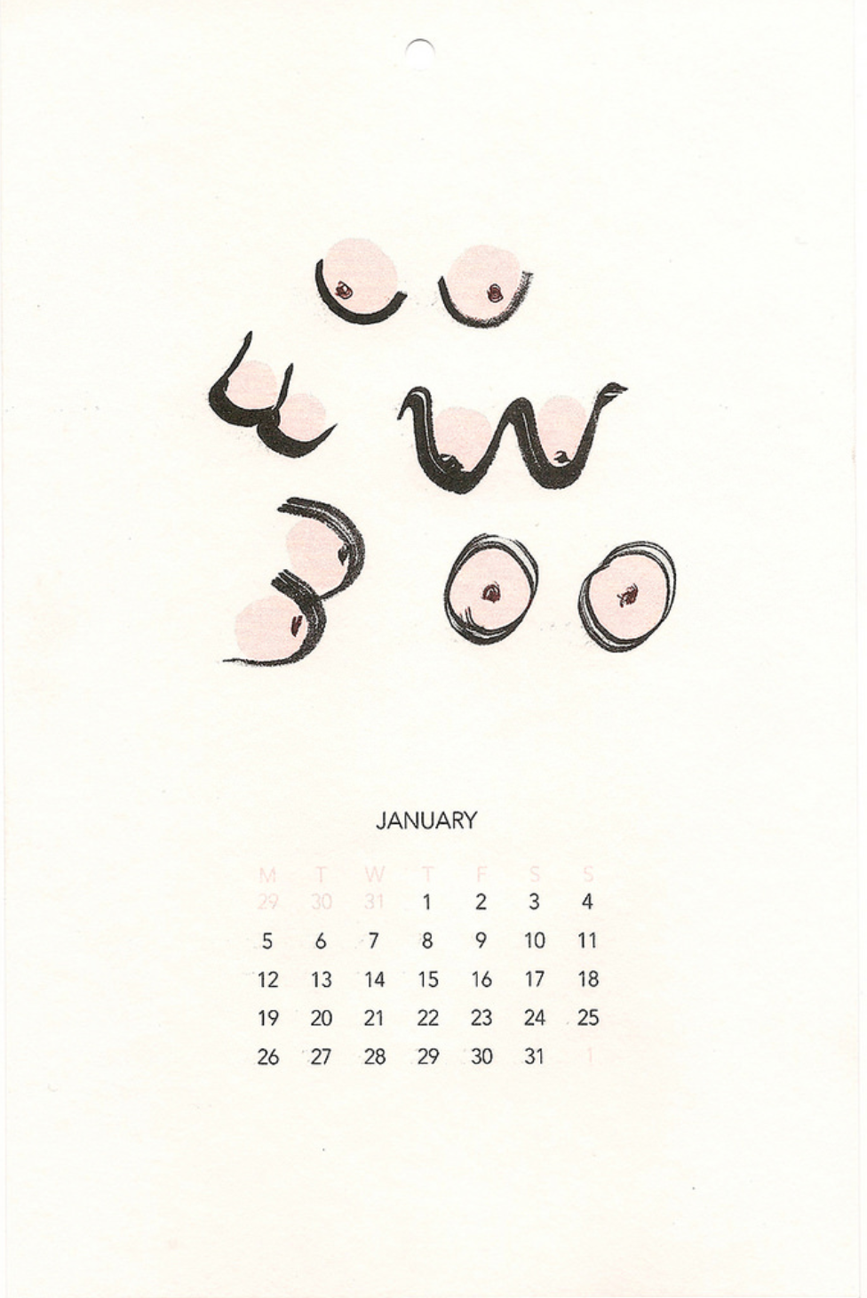 Illustrated Nude Calendar - Stijlmeisje