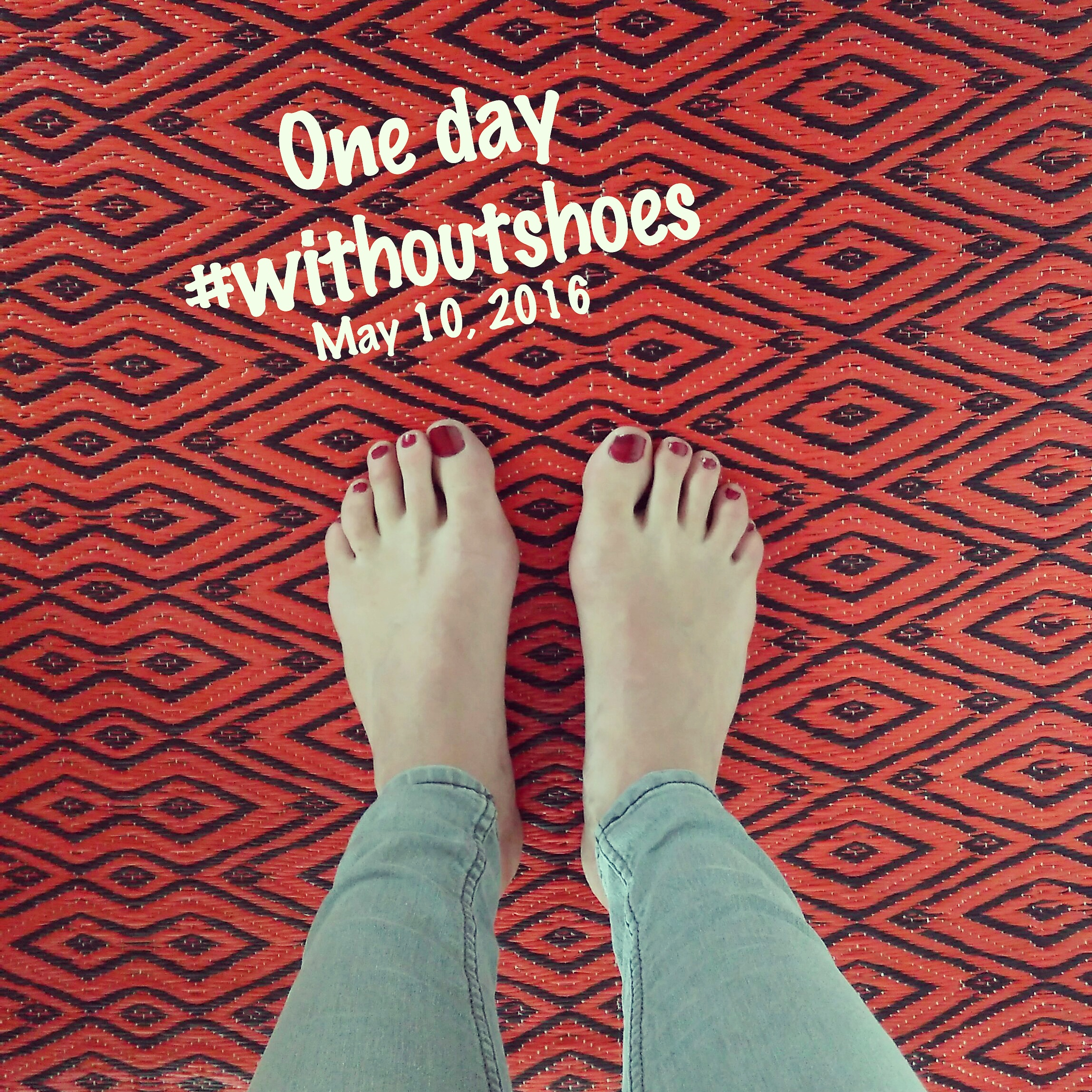One day #withoutshoes