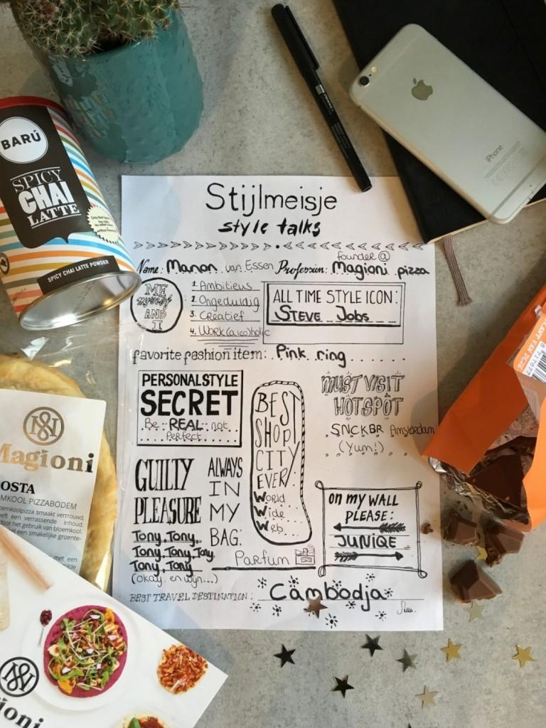 Style Talks - Manon van Essen - Magioni Pizza - Lifestyle Blog