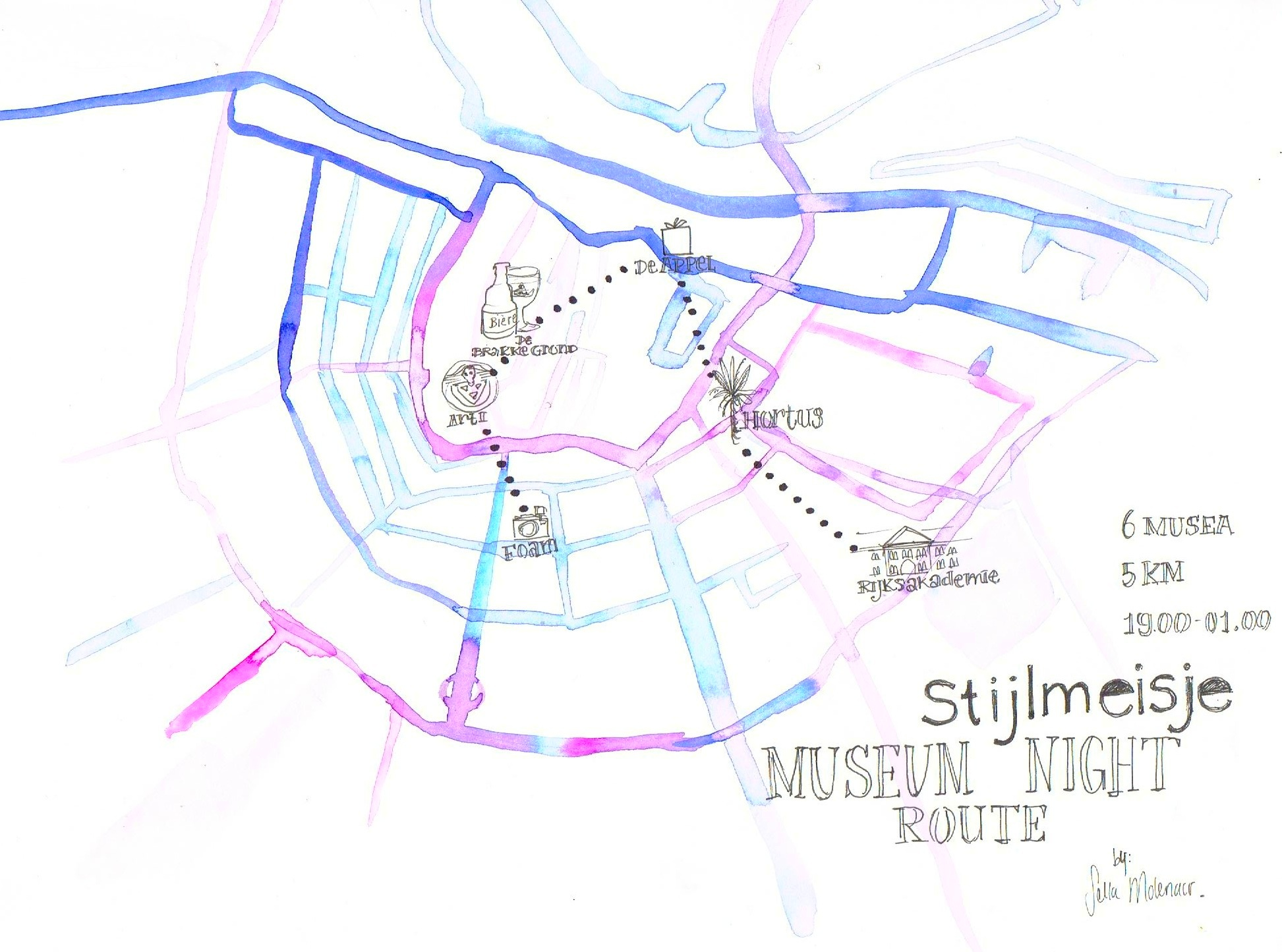 Stijlmeisje Museum Night route